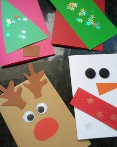 Simple Diy Gifts For Christmas For Kids Top Ideas Christmas Gift Card Holders, Simple Christmas Cards, Christmas Card Crafts, Christmas Activities, Christmas Art, Christmas Decorations, Diy Christmas Tree Skirt, Easy Diy Gifts, Kids Cards
