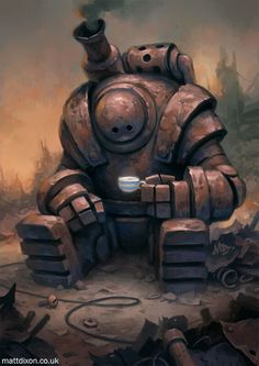 Steampunk artwork - What the past would look like if the future had happened sooner. Robots Steampunk, Steampunk Kunst, Steampunk Artwork, Arte Robot, Robot Art, Desenhos Clash Royale, Robots Vintage, Character Concept, Character Art
