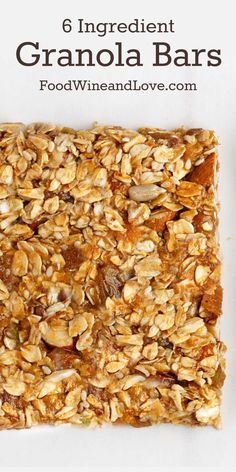 6 Ingredient Granola Bars this is both a healthy and a delicious recipe that you. 6 Ingredient Granola Bars this is both a healthy and a delicious recipe that you could east as a snack or for breakfast. Make this recipe gluten free . Healthy Granola Bars, Homemade Granola Bars, Healthy Bars, Keto Granola, Low Carb Granola Bar Recipe, Healthy Cereal Bars, Low Calorie Granola, Healthy Shakes, Healthy Cookies
