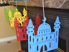 Felt hanging, easy to put up by the fireplace, or stair case. Love em:-) the kids and I love to decorate the house for Ramadan.
