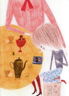 Marika Maijala kuvitti Essi Kummun ensimmäisen lastenkirjan Puhelias Elias.