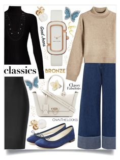 Wardrobe Staples by igiulia on Polyvore featuring Rejina Pyo, Acne Studios, Roland Mouret, Repetto, Valentino, Marc by Marc Jacobs, Swarovski, mizuki, Sea, New York and WALL