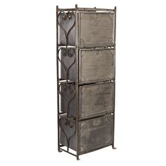 French Industrial Stacked Metal Drawers | From a unique collection of antique and modern industrial furniture at http://www.1stdibs.com/furniture/more-furniture-collectibles/industrial-furniture/