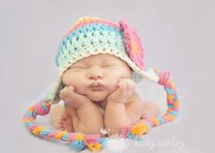 Love the colours baby girl hat, crochet baby hat, crochet kids hat, crochet earflap hat, striped hat