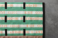 Black Trim w/Embroidered Stripe Fire Hose Mats