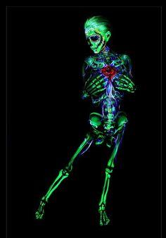 Black light body paint