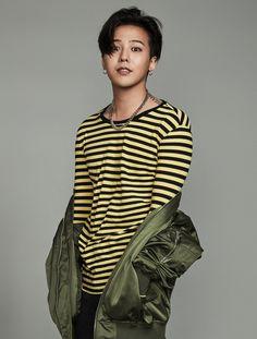 [8 X 지드래곤] 옐로우 스트라이프 티셔츠_ G-Dragon GD 지디 콜라보