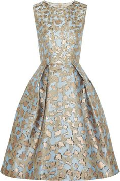 extra big wishlisting // mary katrantzou metallic leopard print on blue #dress