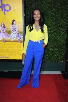 9 Ways to Wear Brightly Colored Pants: Wear Brights with Yellow.