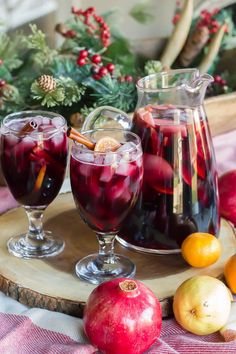 Say cheers to this winter holiday sangria recipe