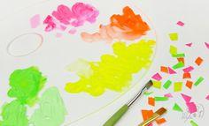 La peinture fluo, comment l'utiliser ? http://www.amylee.fr/2016/08/peinture-fluo/ #conseils #art