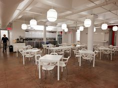 This floor also features a large canteen where many employees eat lunch. BuzzFeed