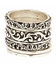 Lois Hill Repousse Stackable Rings