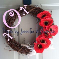 Valentines day wreath.  Order soon!