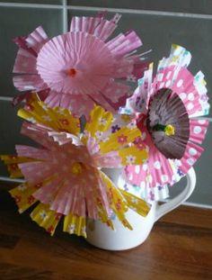 summer crafts, cupcak, idea, case flower, crafti, children, flowers, paper cups, kid