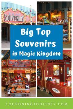 Big Top Souvenirs in Magic Kingdom Disney World Souvenirs, Disney World Parks, Disney World Planning, Walt Disney World Vacations, Big Top Circus, Circus Train, Disney World Magic Kingdom, Feeling Overwhelmed, Entertaining