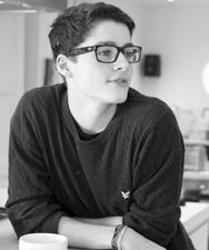 Finn Harries - black and white AND glasses? no, that much cute is not allowed