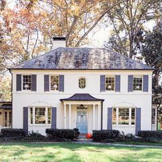 Southern Homes With The Best Curb Appeal of 2017 Green Shutters, Southern Homes, Southern Living, Red Roof, Beach Cottages, Exterior Paint, Traditional House, My Dream Home, Dream Homes