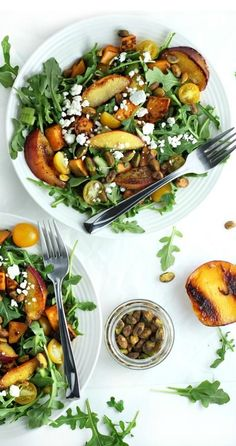 This Grilled Peach and Sweet Potato Salad with Honey Balsamic Vinaigrette is a healthy summer salad recipe that you'll want to make many times!
