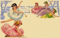 Illustration by Dorothy Grider  (from the 1958 children's book Little Ballerina by Dorothy Grider)