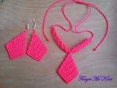 Macrame Earrings, Macrame Jewelry, Crochet Earrings, Crochet Bikini, Knots, Forget, Necklaces, Google, Jewelery