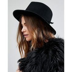 Brixton Manhattan Fedora in Black with Grossgrain Trim ($121) ❤ liked on Polyvore featuring accessories, hats, black, brixton fedora, brixton, wide brim hat, crown hat and fedora hat