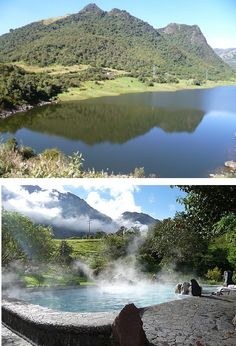www.gogoanhalzer.com PAPALLACTA'S HOT SPRINGS AND LAKE - The lake's water mainly comes from the Cayambe and Sarahurco's glaciers and partly from various springs in the neighboring 'paramo'. The hot springs are a spectacular example of nature's gifts in Ecuador.  www.gogoanhalzer.com