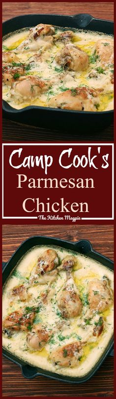 Camp Cook's Parmesan Chicken - This recipe from a hunting camp cook is so easy to make with a can of mushroom soup and chicken breaded with crumbs & Parmesan cheese!