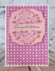 Stampin' Up! UK Feeling Crafty - Bekka Prideaux Stampin' Up! UK Independent Demonstrator: A Pink Floral Phrases Card for National Pink Day