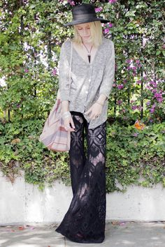lace bell-bottoms