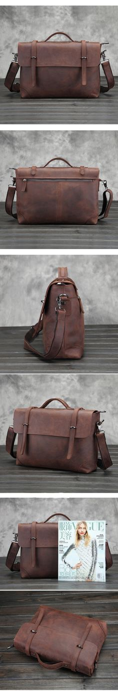 Will you find a bag you like at www.leathermessengerbags.top ? Handmade Vintage Leather Briefcase/Backpack, Men Messenger Bag, Laptop Bag