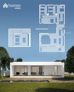 Hoy queremos compartir esta casa de 204 m2 con 5 habitaciones, 1 vestidor, 3 baños, cocina, salón-comedor, lavadero y sala multiusos en planta sótano. Y además tiene un porche de 30 m2. No está nada mal, ¿verdad? #arquitectura #homm #casasprefabricadas