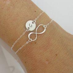 Personalized bracelet Infinity Bracelet Initial by AdrianaSparks