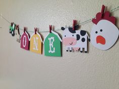 Farm One Banner/Farm Banner/First Birthday/Farm and Friends/Barnyard Bash/Farm Birthday Banner