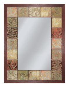 Leaf Tile   Decorative Mirror Vanity Wall Mirror, Tile Mirror, Bathroom  Mirrors, Wall