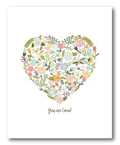 'You are Loved' Heart Wrapped Canvas #zulily #zulilyfinds