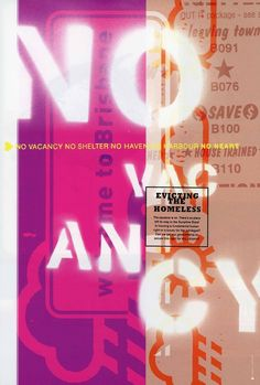 No Vacancy poster for Inner Brisbane Housing Network, Australia, 2000. Design: Inkahoots. From the essay: Inkahoots and Socially Concerned Design: Part 2