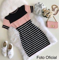 F A S H I O N look vestido dress roupas fashion moda Girls Fashion Clothes, Teen Fashion Outfits, Mode Outfits, Cute Fashion, Outfits For Teens, Girl Outfits, Fashion Dresses, Fashion Fashion, Fashion Today