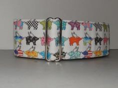 When Pigs Fly * Flying Pigs* Martingale * Greyhound* Dog Collar #zibbet
