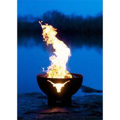 """Fire Pit Art Long Horn - 36"""" Steel Fire Pit (LH) - Modern Blaze  - 5"""