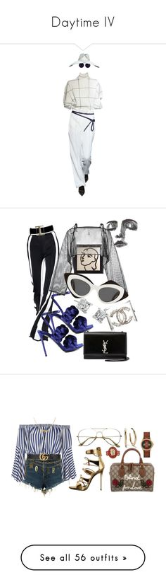 """""""Daytime IV"""" by mariamxismail ❤ liked on Polyvore featuring Linda Farrow, Gianvito Rossi, Tod's, Marco de Vincenzo, demoo parkchoonmoo, Yves Saint Laurent, Prabal Gurung, Chanel, Blue Nile and 3x1"""
