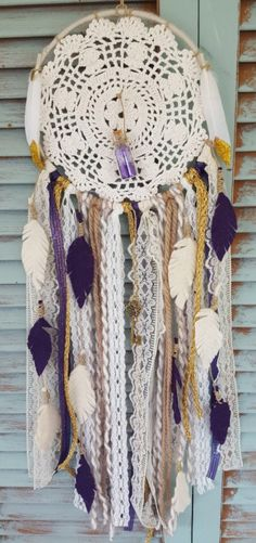 Colector de fieltro plumas sueño bohemio / / atrapasueños