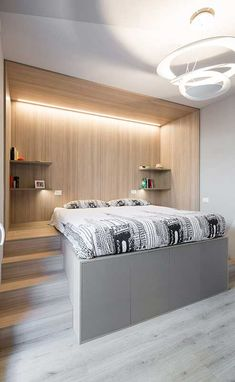 Small Room Design Bedroom, Bedroom Decor On A Budget, Teen Bedroom Designs, Room Ideas Bedroom, Home Room Design, Bedroom Styles, Loft Beds For Small Rooms, Bedroom Layouts, Apartment Design