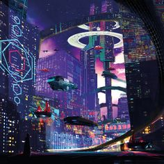 Fragments of a Hologram Dystopia Arte Cyberpunk, Cyberpunk Aesthetic, Cyberpunk City, Futuristic City, Cyberpunk 2077, Futuristic Architecture, Fantasy World, Fantasy Art, Sci Fi City