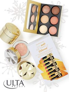 Every bareMinerals fan deserves some glam this holiday season. We're loving the limited edition holiday gifts this year: from collector's edition mineral foundation and mineral veil in gold and silver cases, the You Had Me At Aglow powder palette for highlighting, contouring and all-around glow, or the Go Nude or Make a Statement kit of cult favorite Gen Nude lipsticks. Click through to see all the fab & festive gifts!