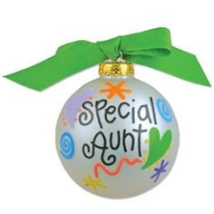 Personalized Special Aunt Ornament with Name $21.20