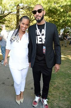 Alicia Keys and Swizz at the Global Citizen Festival