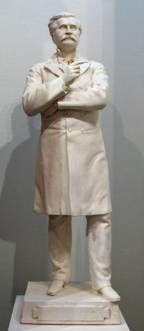 """Louis-Philippe Hébert, """"Honoré Mercier,"""" Plâtre, 29"""" Mercier, Claude, Philippe, Sculpture, American, Statue, Collection, Canadian Art, American Art"""
