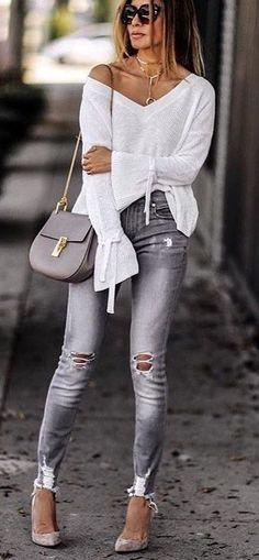 8ba440ff065271 Combo gris + blanco Street Fashion