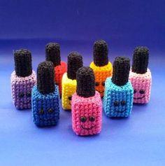 Ha! Nail Art + Crochet!